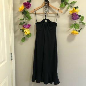 Michael Kors Halter Neck Dress w/ Chain Detail